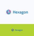 Hexagon overprint ornament logo vector image vector image
