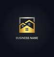 home realty business gold logo vector image vector image