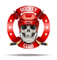 Ice hockkey club or team badges and labels logo vector image vector image