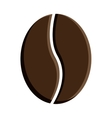 Icon of coffee brown bean vector image vector image