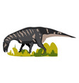 iguanodon on white background vector image vector image