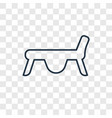 jumping equipment concept linear icon isolated on vector image