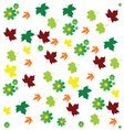 leaf and flower background color vector image