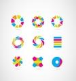 Logo icon elements design set colors vector image vector image