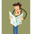man reading a newspaper vector image