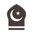 moon and star temple ramadan arabic islamic vector image