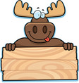 moose sign vector image vector image