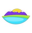Mountain landscape icon cartoon style vector image vector image