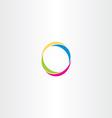 o letter logo logotype o colorful symbol vector image vector image