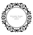 ornamental antique frame in circular shape vector image vector image