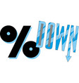 percent down icon eps10 vector image vector image