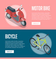 personal transport isometric horizontal flyers vector image vector image