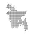 pixel map of bangladesh dotted map of bangladesh vector image
