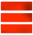 Pop art style dotted red banners collection vector image vector image