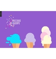 Precious scoops on purple vector image vector image