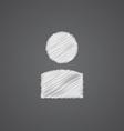 profile sketch logo doodle icon vector image vector image