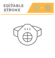 protective respirator line icon vector image vector image