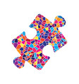 puzzle piece sign stained glass icon