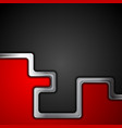 red and black abstract tech background vector image vector image