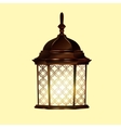 Retro vintage lamp vector image