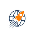 rocket launch icon logo simple sign rocket symbol vector image