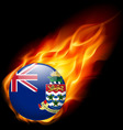 Round glossy icon of cayman islands vector image