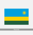 rwanda rwandan national country flag banner icon vector image vector image