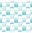 seamless background presents boxes vector image