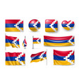 set nagorno-karabakh flags banners banners vector image vector image