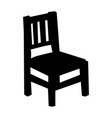 silhouette chair motives interior home vector image vector image