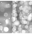 Silver blurred lights and stars vector | Price: 1 Credit (USD $1)