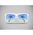 Sunglasses with a Palm Tree vector image vector image