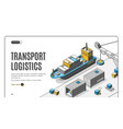 transport logistics ship port delivery company vector image vector image