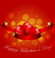 valentines day concept of heart with realistic re vector image vector image