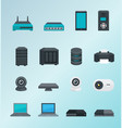 wireless assets and devices vector image vector image
