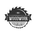 woodworking logo template vector image vector image