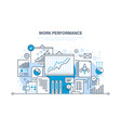 work performance teamwork analysis planning vector image vector image