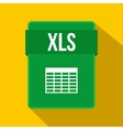 XLS file icon flat style vector image vector image