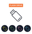 flash drive icon simple thin line image vector image