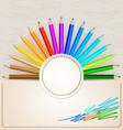 Pencil Colors vector image