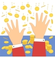 Falling money icon vector image
