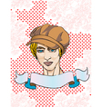 Valentine s Day card with portrait vector image