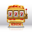 777 jackpot slot machine golden casino spin vector image vector image