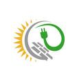 alternative renewable sustainable energy solar vector image vector image