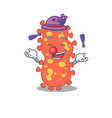 an attractive bacteroides cartoon playing juggling vector image vector image