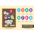 anniversary kids birthday card template vector image vector image