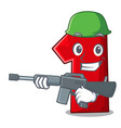 army character number one on the platform vector image