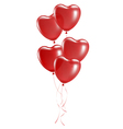 balloons in shape heart vector image vector image