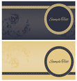 Beautiful greeting cards vector image