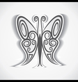 black and white butterfly background vector image vector image